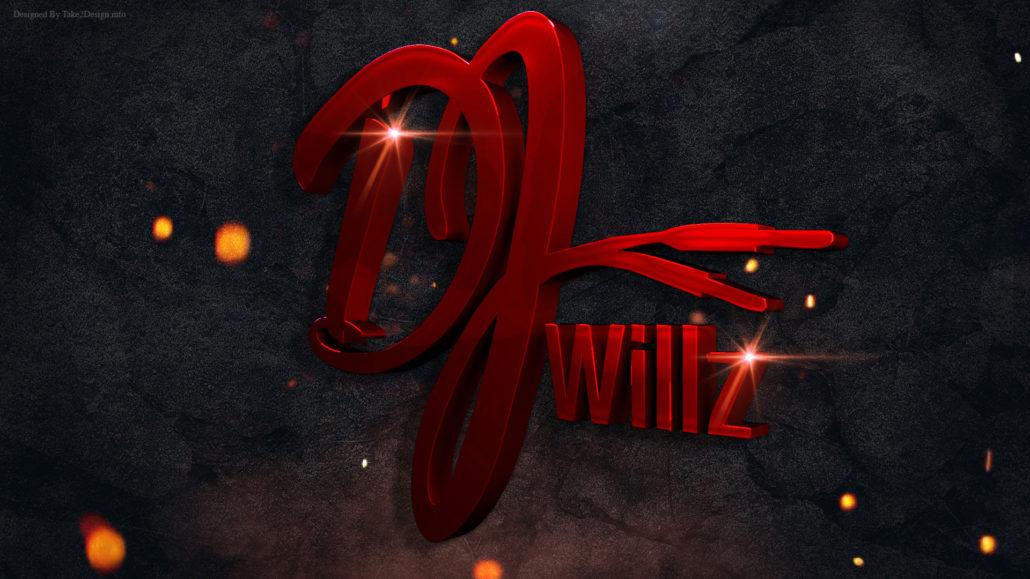Dj Willz logo 3D Design