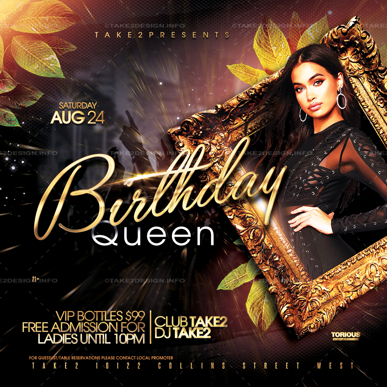 Birthday Party Flyer Template – Take2Design